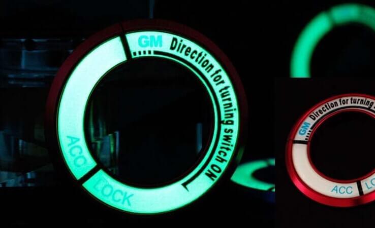 Светящаяся накладка на замок зажигания для Mazda, фото 5