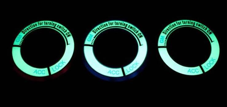 Светящаяся накладка на замок зажигания для Mazda, фото 6
