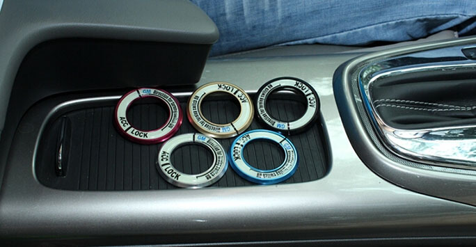 Светящаяся накладка на замок зажигания для Mazda, фото 10
