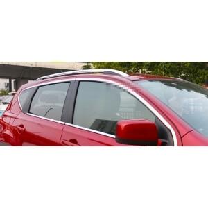 Хромированные рейлинги Nissan Qashqai (цельный)