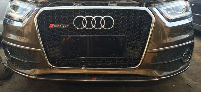 Высокопрочная тюнингованная решетка радиатора Audi Q3 в стиле RSQ3, фото 3
