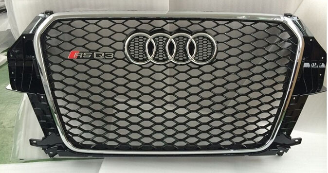 Высокопрочная тюнингованная решетка радиатора Audi Q3 в стиле RSQ3, фото 4