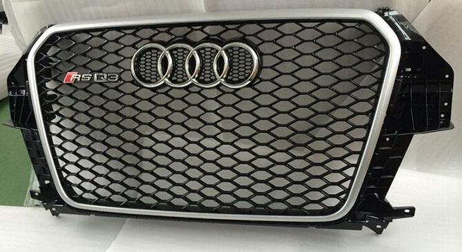Высокопрочная тюнингованная решетка радиатора Audi Q3 в стиле RSQ3, фото 5