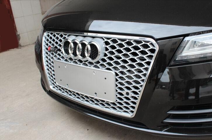 Высокопрочная тюнингованная решетка радиатора Audi A7 в стиле RS7, фото 2