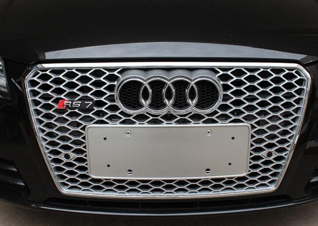 Высокопрочная тюнингованная решетка радиатора Audi A7 в стиле RS7, фото 3