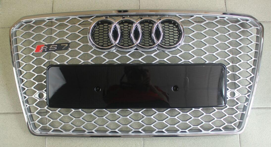 Высокопрочная тюнингованная решетка радиатора Audi A7 в стиле RS7, фото 4