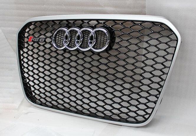 Высокопрочная тюнингованная решетка радиатора Audi A6 в стиле RS6, фото 2