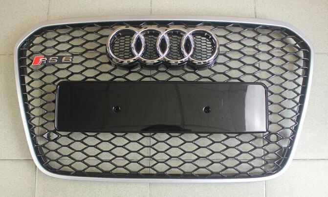 Высокопрочная тюнингованная решетка радиатора Audi A6 в стиле RS6, фото 5