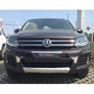 Защитная накладка бампера Volkswagen Tiguan 1.4 (2011-2015)
