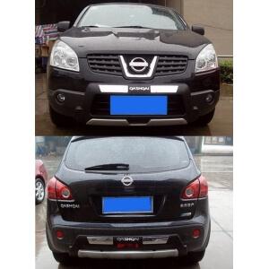 Защитная накладка бампера Nissan Qashqai (2007-2010)