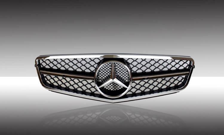 Хромированная решетка радиатора Mercedes-Benz C-Class (W204), фото 2