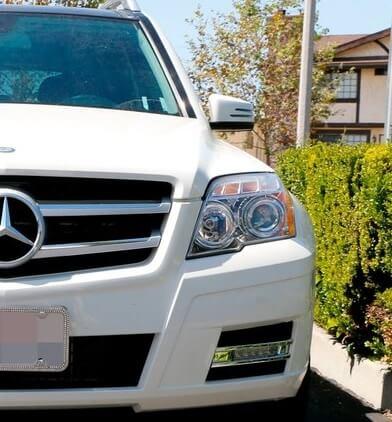 Дневные ходовые огни Mercedes GLK-Class X204