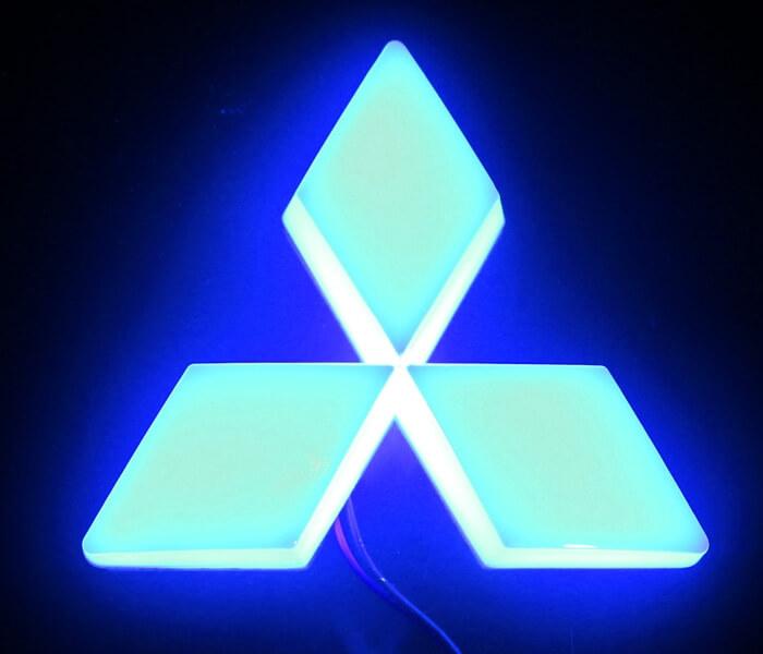4D светящийся шильдик Mitsubishi, фото 2