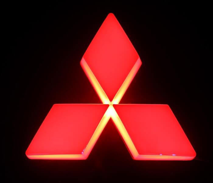 4D светящийся шильдик Mitsubishi, фото 3