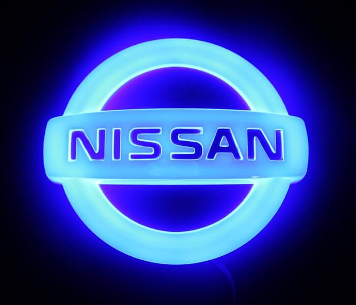 4D светящийся шильдик Nissan, фото 2