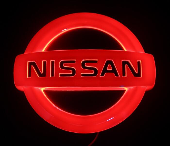 4D светящийся шильдик Nissan, фото 3