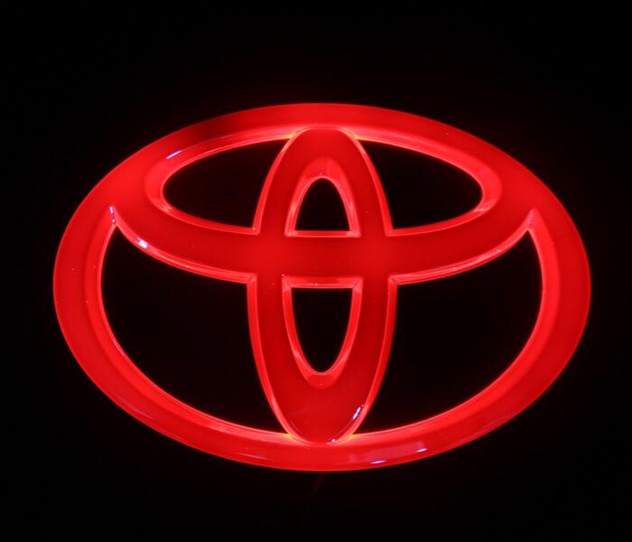 4D светящийся шильдик Toyota, фото 2