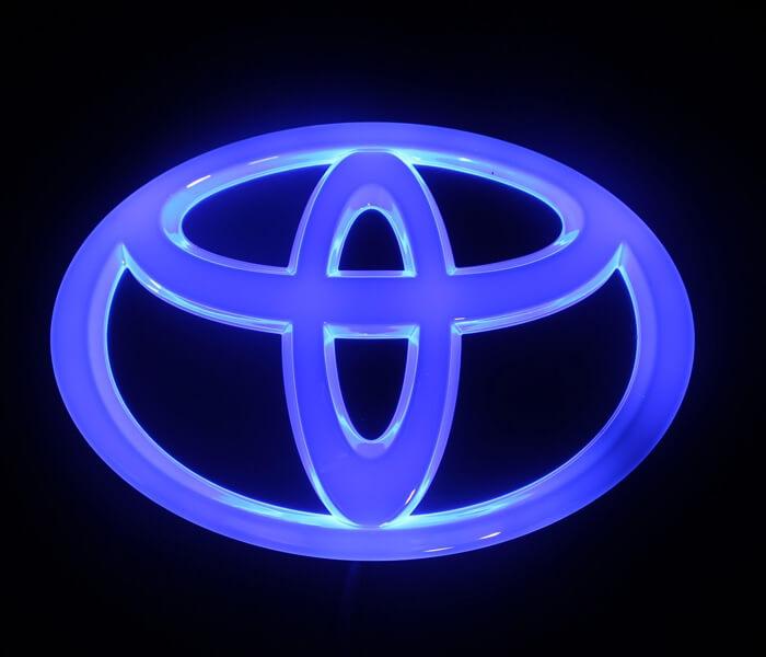 4D светящийся шильдик Toyota, фото 3