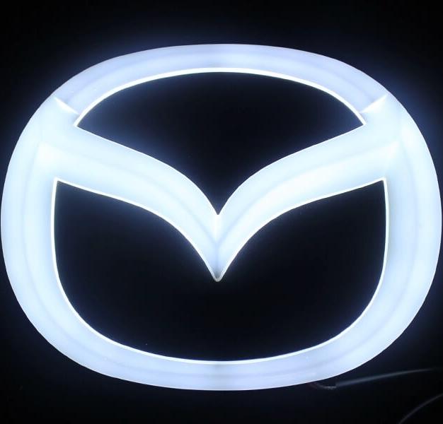 4D светящийся шильдик Mazda