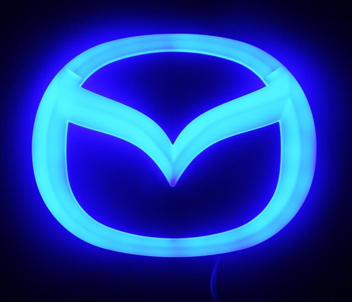 4D светящийся шильдик Mazda, фото 2