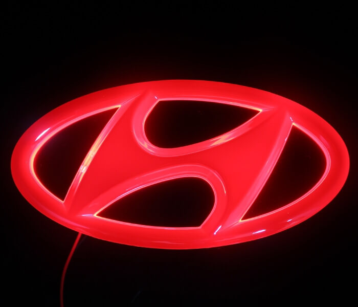 4D светящийся шильдик Hyundai, фото 2