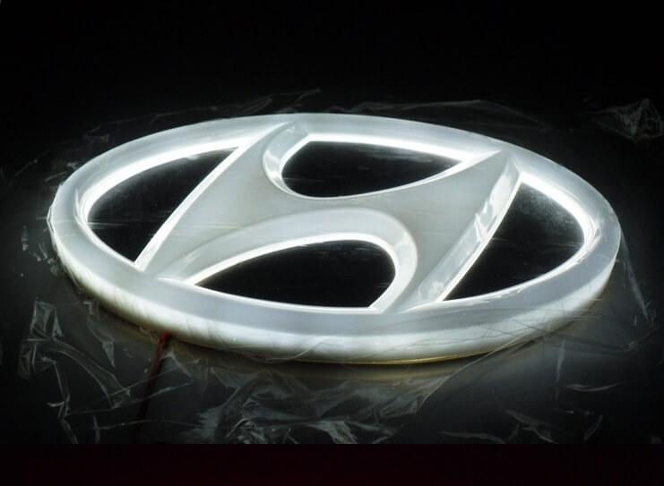 4D светящийся шильдик Hyundai, фото 3
