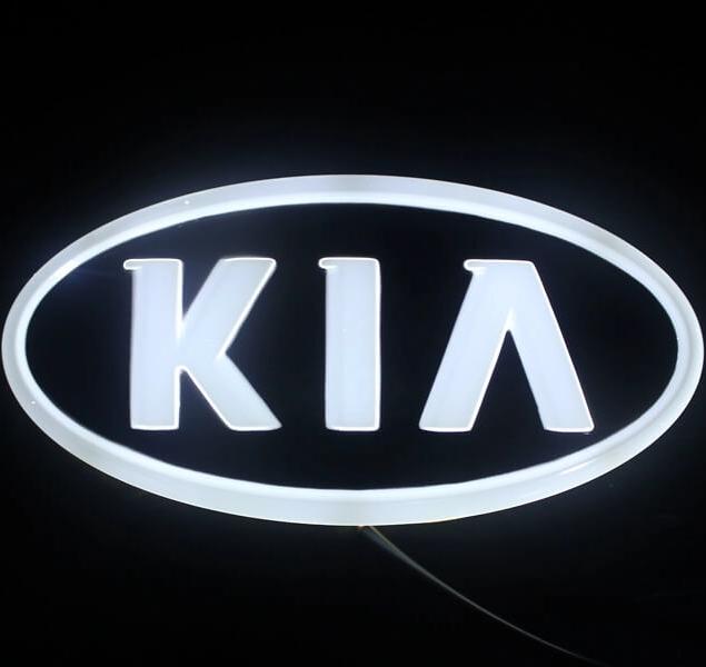 4D светящийся шильдик Kia