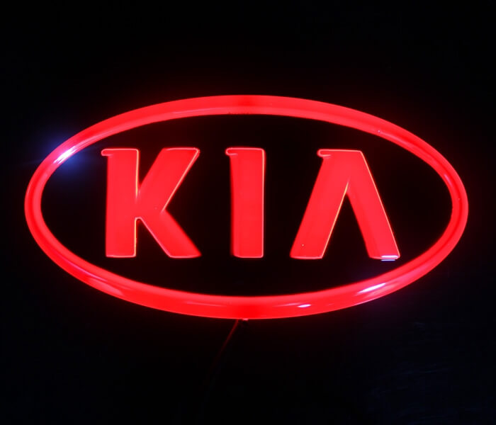 4D светящийся шильдик Kia, фото 2