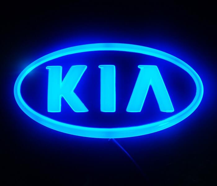 4D светящийся шильдик Kia, фото 3