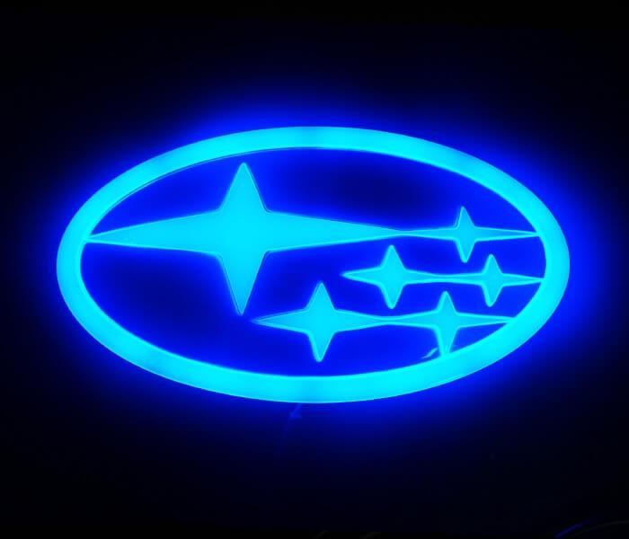 4D светящийся шильдик Subaru, фото 2