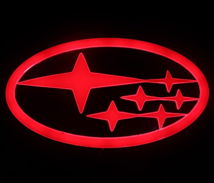 4D светящийся шильдик Subaru, фото 3