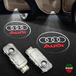 Штатная подсветка дверей Audi A4 (2004-2007)