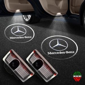 Штатная подсветка дверей Mercedes B-class (2011-2014)