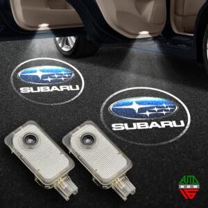 Штатная подсветка дверей Subaru Tribeca