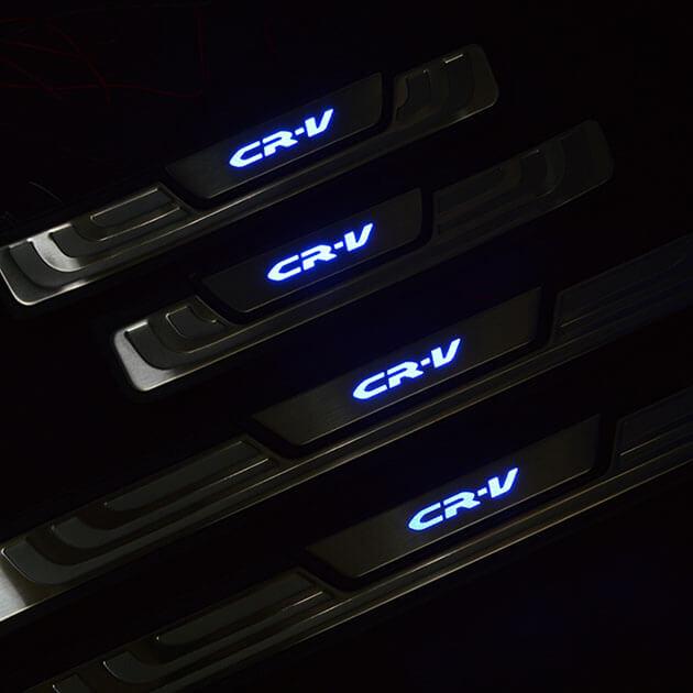 Накладки на пороги с подсветкой (под оригинал) Honda CR-V (2012-2015), фото 3