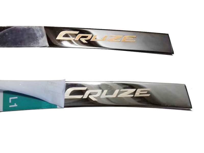 Хром накладка на бардачок Chevrolet Cruze, фото 3