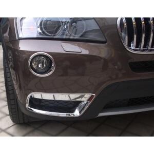 Накладки на передние (верхние) ПТФ BMW X3 (2010-2013)