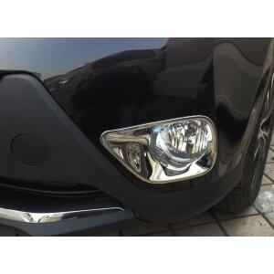 Накладки на передние ПТФ Toyota Rav4 (2013-2015)