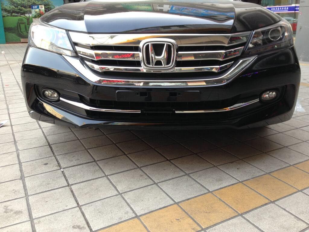 Накладки под решетку радиатора Honda Accord 9 рестайлинг, фото 4