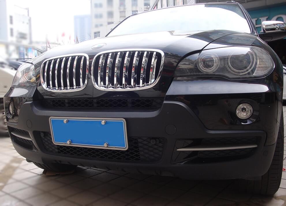 Накладка на решетку радиатора BMW X5 (2010-2013), фото 2