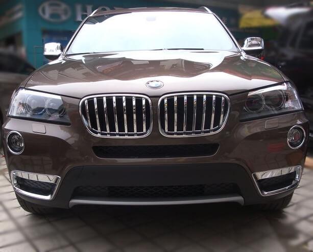 Накладка на решетку радиатора BMW X3 (2010-2014)