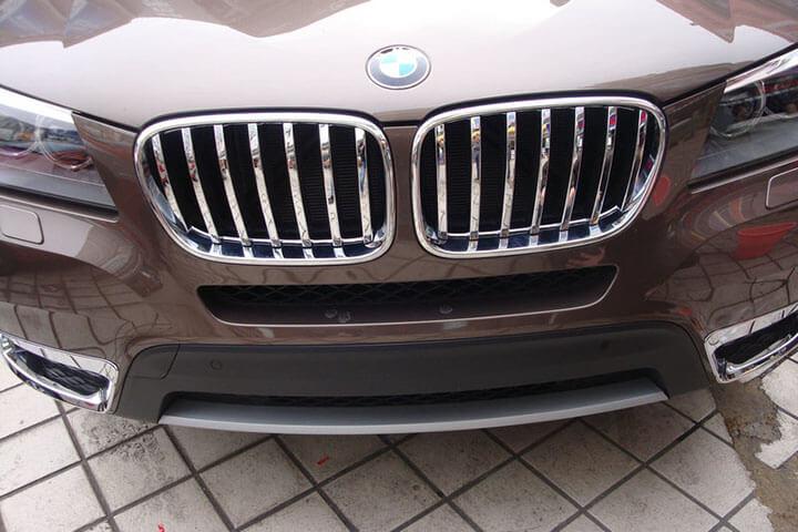 Накладка на решетку радиатора BMW X3 (2010-2014), фото 2