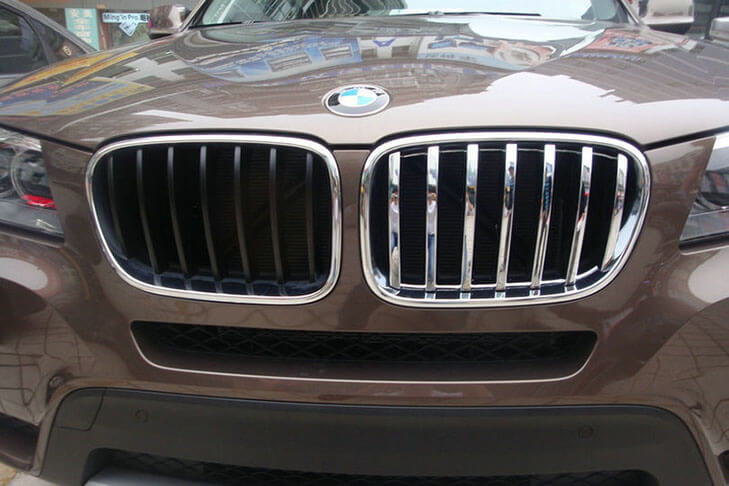 Накладка на решетку радиатора BMW X3 (2010-2014), фото 4