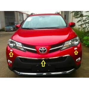 Молдинг на решетку радиатора Toyota Rav4 (2013-2015)