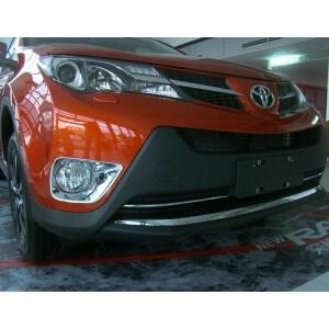 Накладки на нижнюю решетку радиатора Toyota Rav4 (2013-2015)