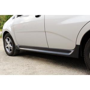 Обвес порогов Chevrolet Aveo 2006 – 2012, хэтчбек