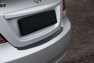 Пластиковая накладка на бампер Hyundai Solaris (sedan)