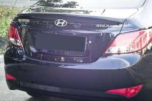 Пластиковая накладка на бампер Hyundai Solaris рестайлинг (sedan)