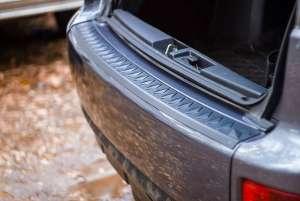 Пластиковая накладка на бампер Mitsubishi Outlander 2 рестайлинг