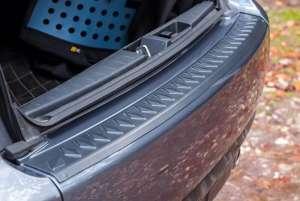 Пластиковая накладка на бампер Mitsubishi Outlander 2